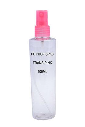 Sample PET 100ml Mist Sprayer Trans Pink