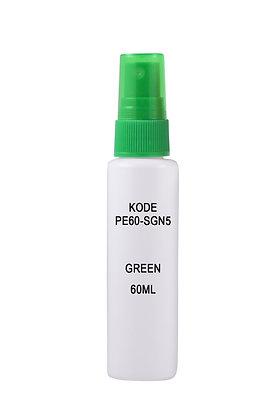 HDPE 60ml Mist Sprayer-Green
