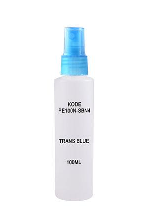 Sample HDPE 100ml - Sprayer Trans Blue