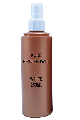 Sample HDPE 250ml Brown- Sprayer White