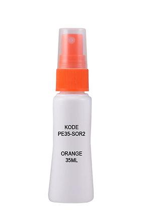 Sample HDPE 35ml Mist Sprayer-Orange