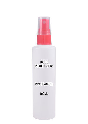Sample HDPE 100ml - Sprayer Pink Pastel