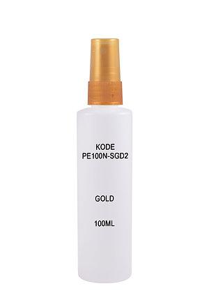HDPE 100ml Mist Sprayer-Gold