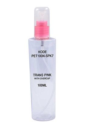 Sample PET 100ml Mist Sprayer Trans Pink-Overcap