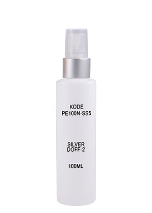 HDPE 100ml Mist Sprayer-Silver Doff2