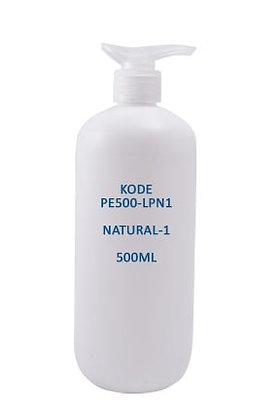 Sample HDPE 500ml-Pump Natural 1