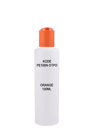 HDPE 100ml-Disctop Orange