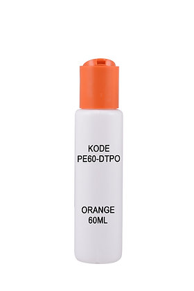 Sample HDPE 100ml-Disctop Orange