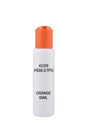 Sample HDPE 60ml-Disctop Orange