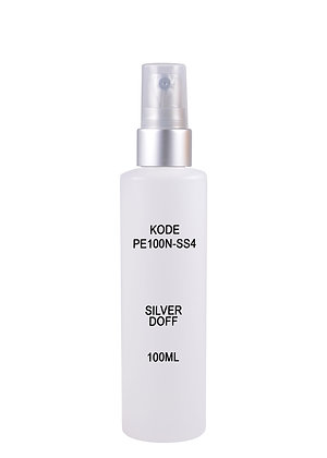 Sample HDPE 100ml - Sprayer Silver Doff