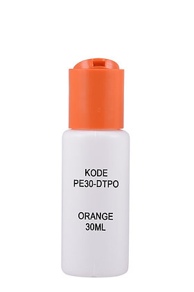 Sample HDPE 30ml-Disctop Orange
