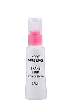 35ml Mist Sprayer-Trans Pink with overcap