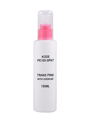 HDPE 150ml - Sprayer Trans Pink with Overcap