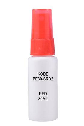 Sample HDPE 30ml Mist Sprayer-Red