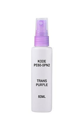 Sample HDPE 60ml-Sprayer Trans Purple