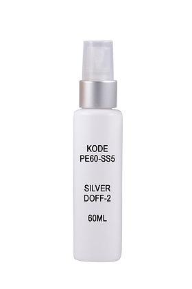 Sample HDPE 60ml-Sprayer Silver Doff2