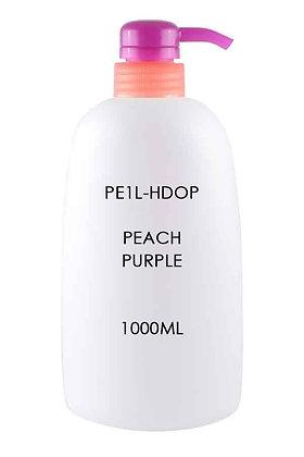 HDPE 1L - Pump Dispenser Peach Purple