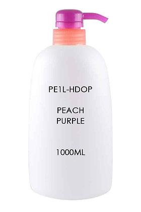 Sample HDPE 1L - Pump Dispenser Peach Purple