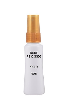 Sample HDPE 35ml Mist Sprayer-Gold