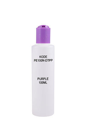 Sample HDPE 100ml-Disctop Purple