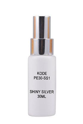 Sample HDPE 30ml Mist Sprayer-Shiny Silver