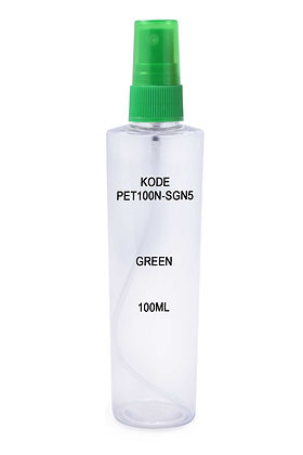 Sample PET 100ml Mist Sprayer Green