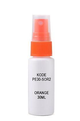 Sample HDPE 30ml Mist Sprayer-Orange