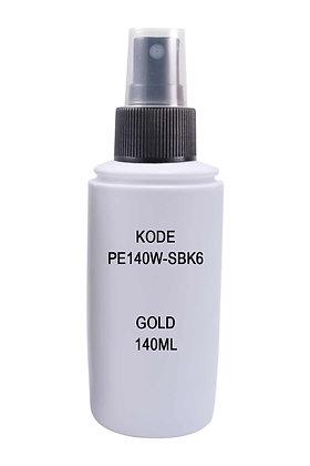 Sample HDPE 140ml White-Sprayer Black