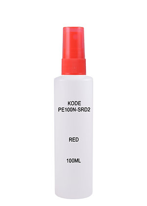 HDPE 100ml Mist Sprayer-Red
