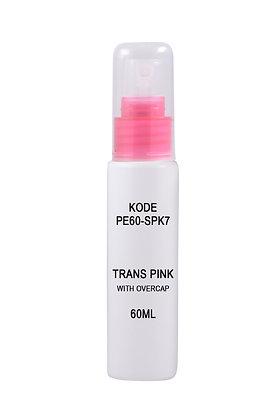 Sample HDPE 60ml-Sprayer Trans Pink Overcap