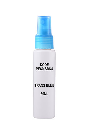 Sample HDPE 60ml-Sprayer Trans Blue