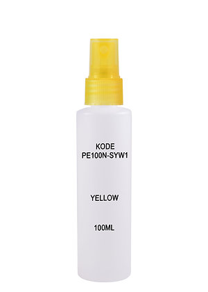 HDPE 100ml Mist Sprayer-Trans Yellow