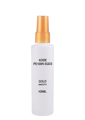 HDPE 100ml Mist Sprayer-Gold Smooth