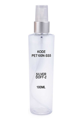 Sample PET 100ml Mist Sprayer Silver Doff 2