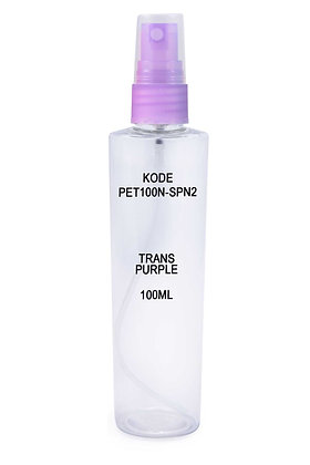 Sample PET 100ml Mist Sprayer Trans Purple