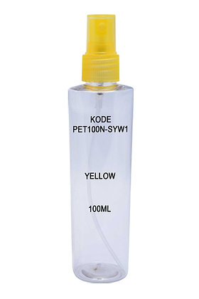PET 100ml Mist Sprayer-Trans Yellow