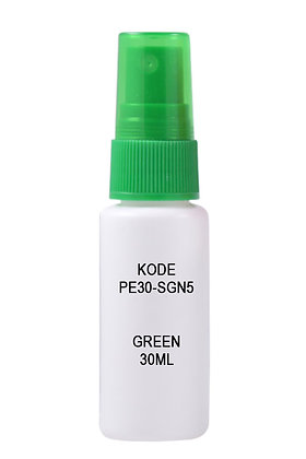 Sample HDPE 30ml Mist Sprayer-Green