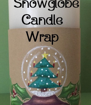 Snow Globe Candle Wrap for Faux Pillar Candles