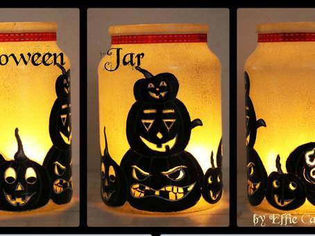 Halloween Candle Jar by Effie Carayannis
