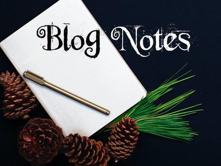 Blog Notes - October 15, 2021