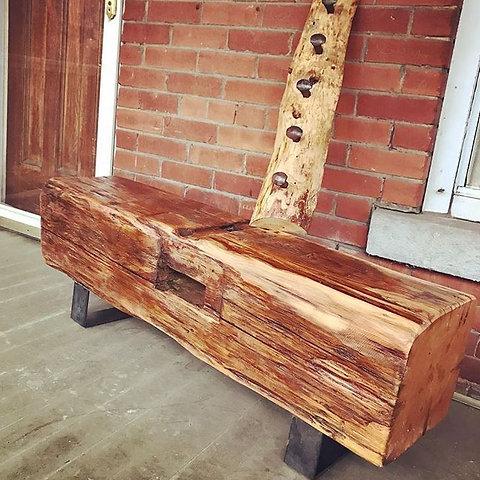 Stupendous Large Barn Beam Bench Ibusinesslaw Wood Chair Design Ideas Ibusinesslaworg