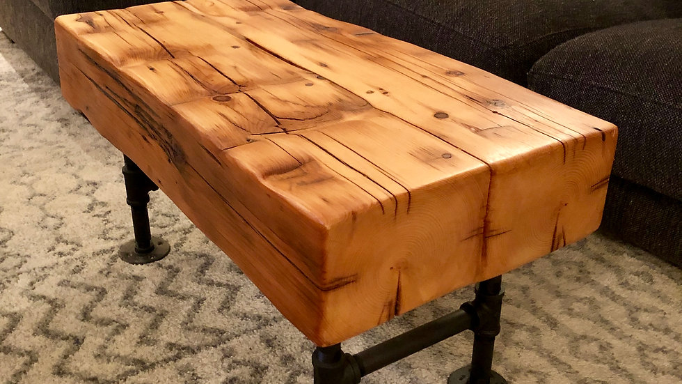 Reclaimed Barn Beam Coffee Table / Bench Rustic Industrial