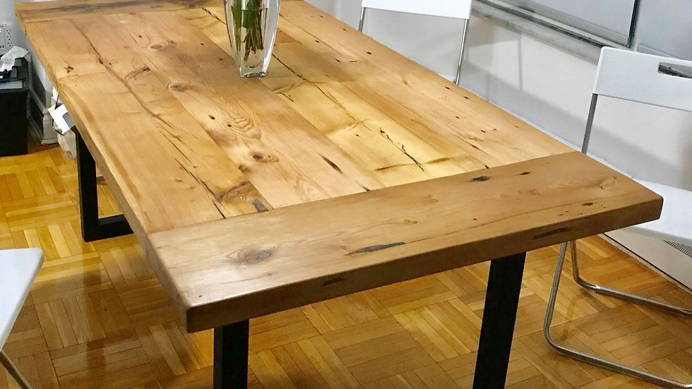 Reclaimed Wood Dining Table Locally Made