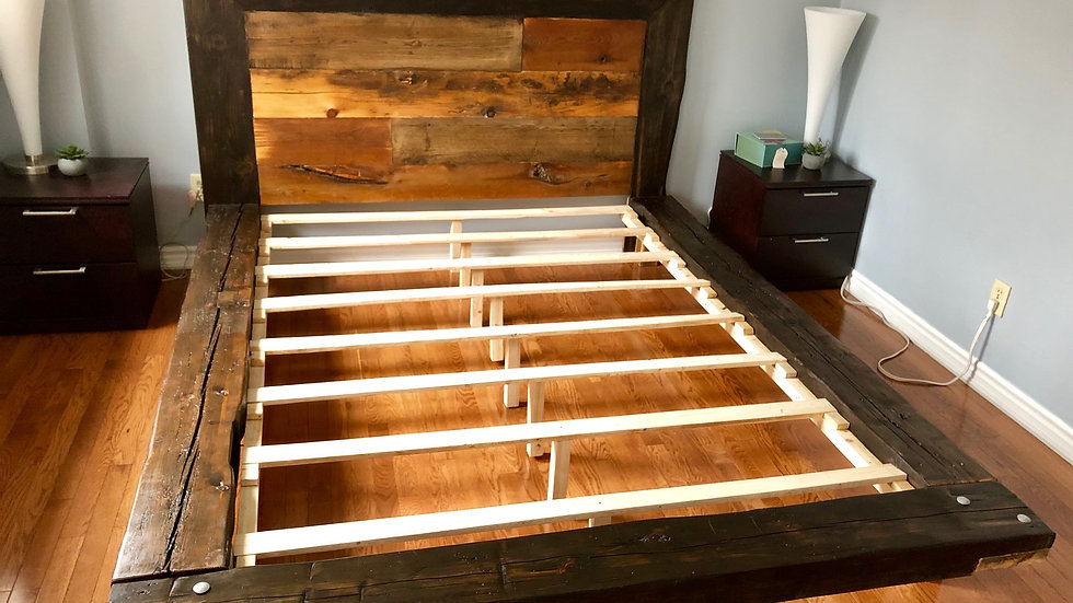 Barn Beam Platform Bed Queen Size