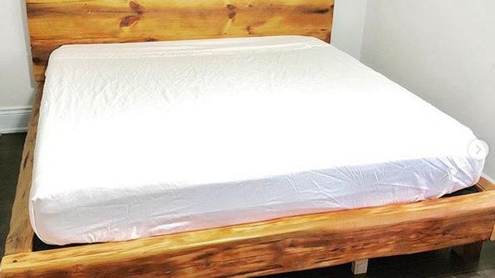 Barn wood rustic platform bed King