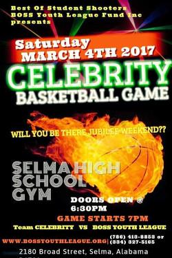 Celebrity Basketball Game 2017 Flyer