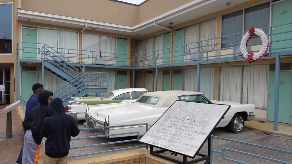 BOSS visit Memphis Tennessee at Lorraine Hotel where civil rights leader Martin Luther King was slai
