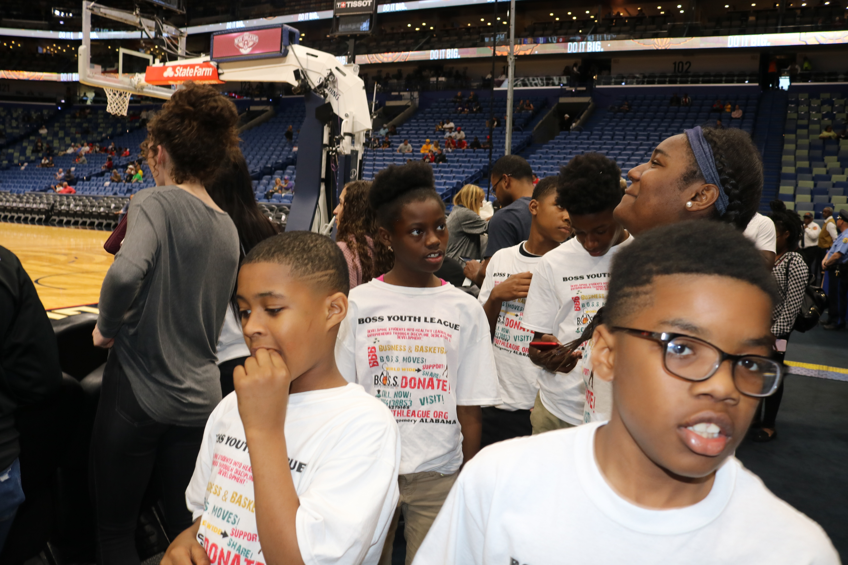 Court side in New Orleans 2018