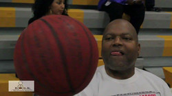 District Attorney Michael Jackson at Celebrity Charity Basketball Game