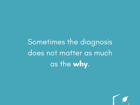 Sometimes the Diagnosis Does Not Matter as Much as the Why